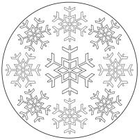 Schneeflockenmandala